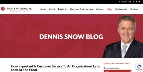 A screenshot Dennis Show's Blog