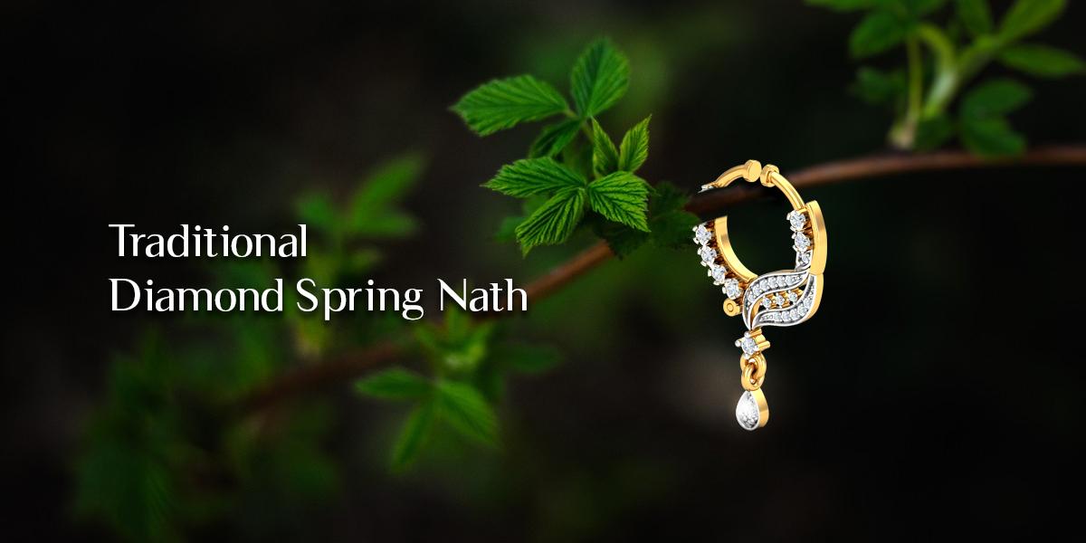 traditional diamond nose nath