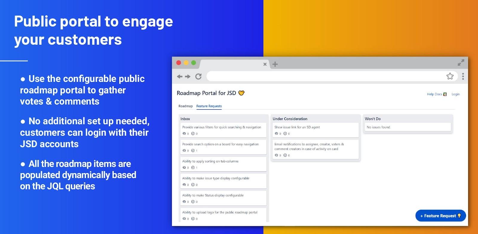Public portal to engage customer