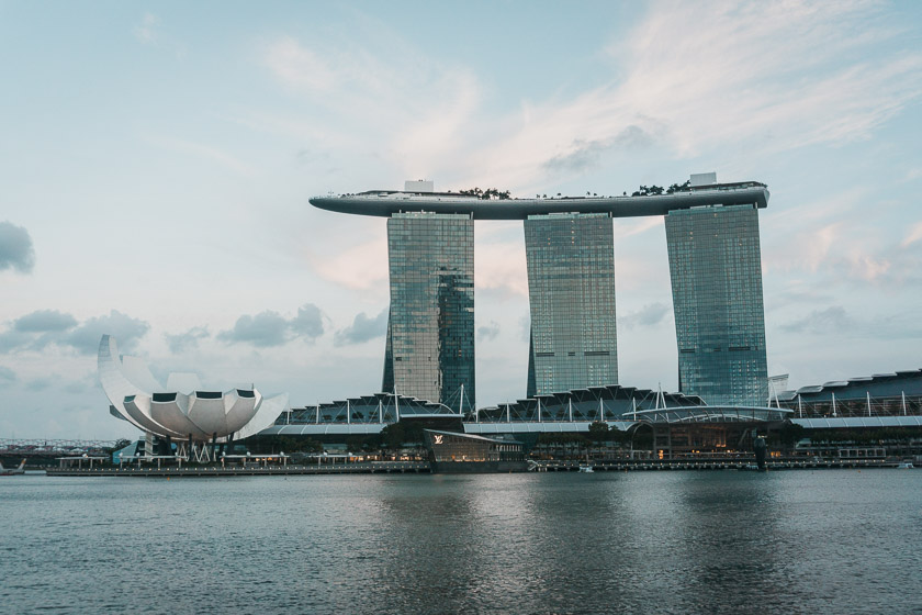Marina Bay Sands luxury hotel in central Singapore.