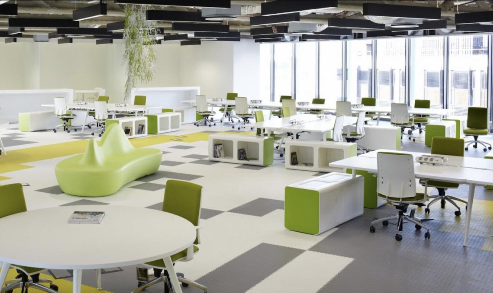 Văn phòng với không gian xanh mát, mới mẻ