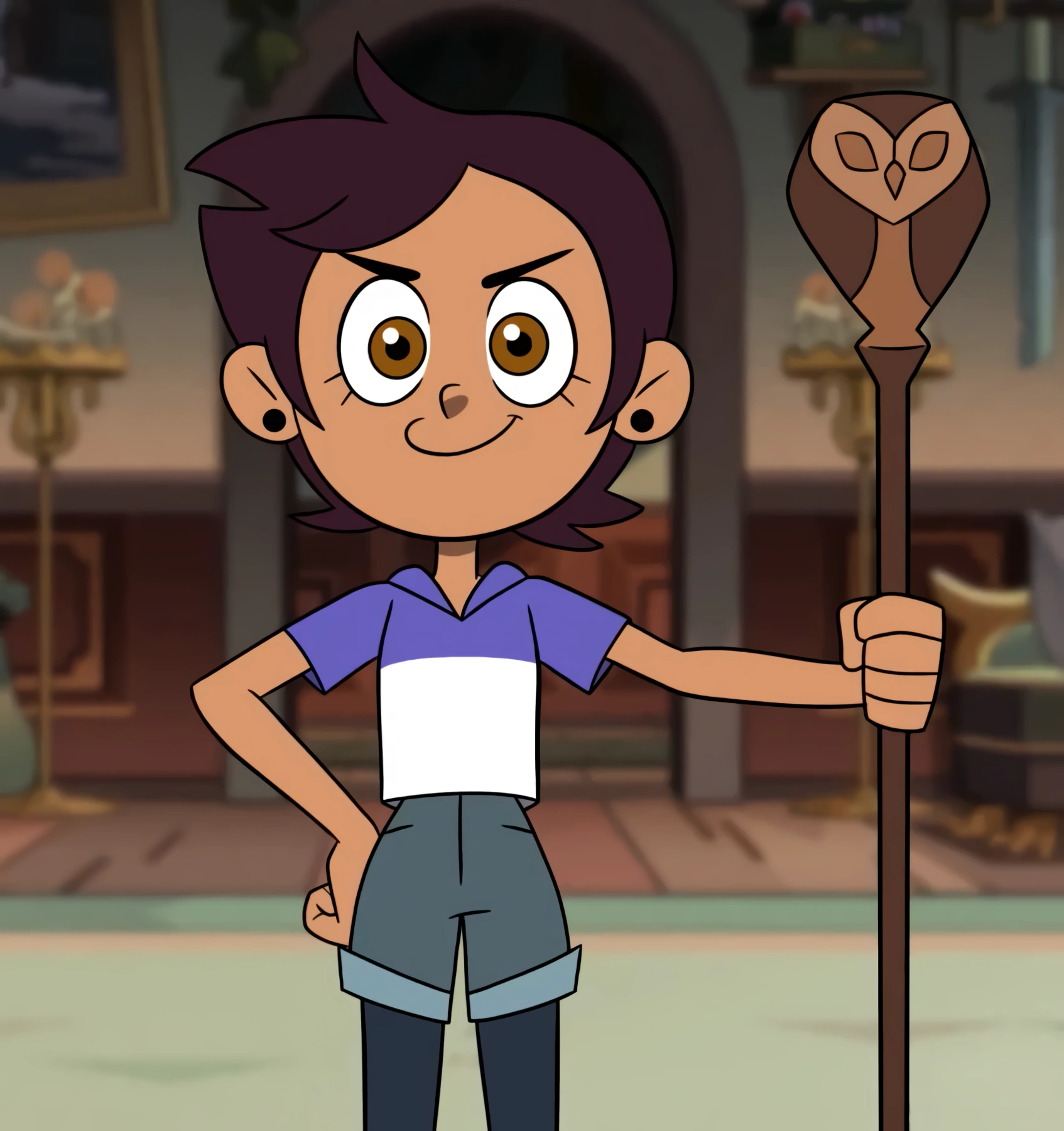 Luz Noceda is the protagonist of The Owl House on Disney Channel and has made Disney channel history! She is the first bisexual protagonist on the network.