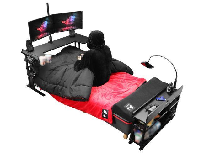 Xuất hiện chiếc giường trong mơ: Nằm cả ngày cày game cũng được - Ảnh 2.
