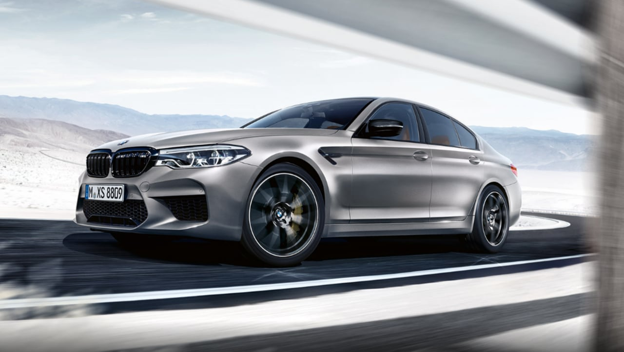 BMW M5 Competition   250 km/h   The BMW M5 is the top-spec high performance variant within the 5 Series lineup of BMW. Priced at Rs 1.54 crore, the M5 can sprint from 0 to 100 km/h in 3.3 seconds. (Image Source: BMW)