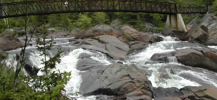 View of Hall Falls near Sudbury