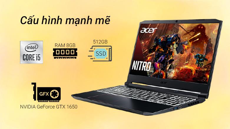 Laptop ACER Nitro 5 AN515-56-51N4 (NH.QBZSV.002)   Cấu hình mạnh mẽ