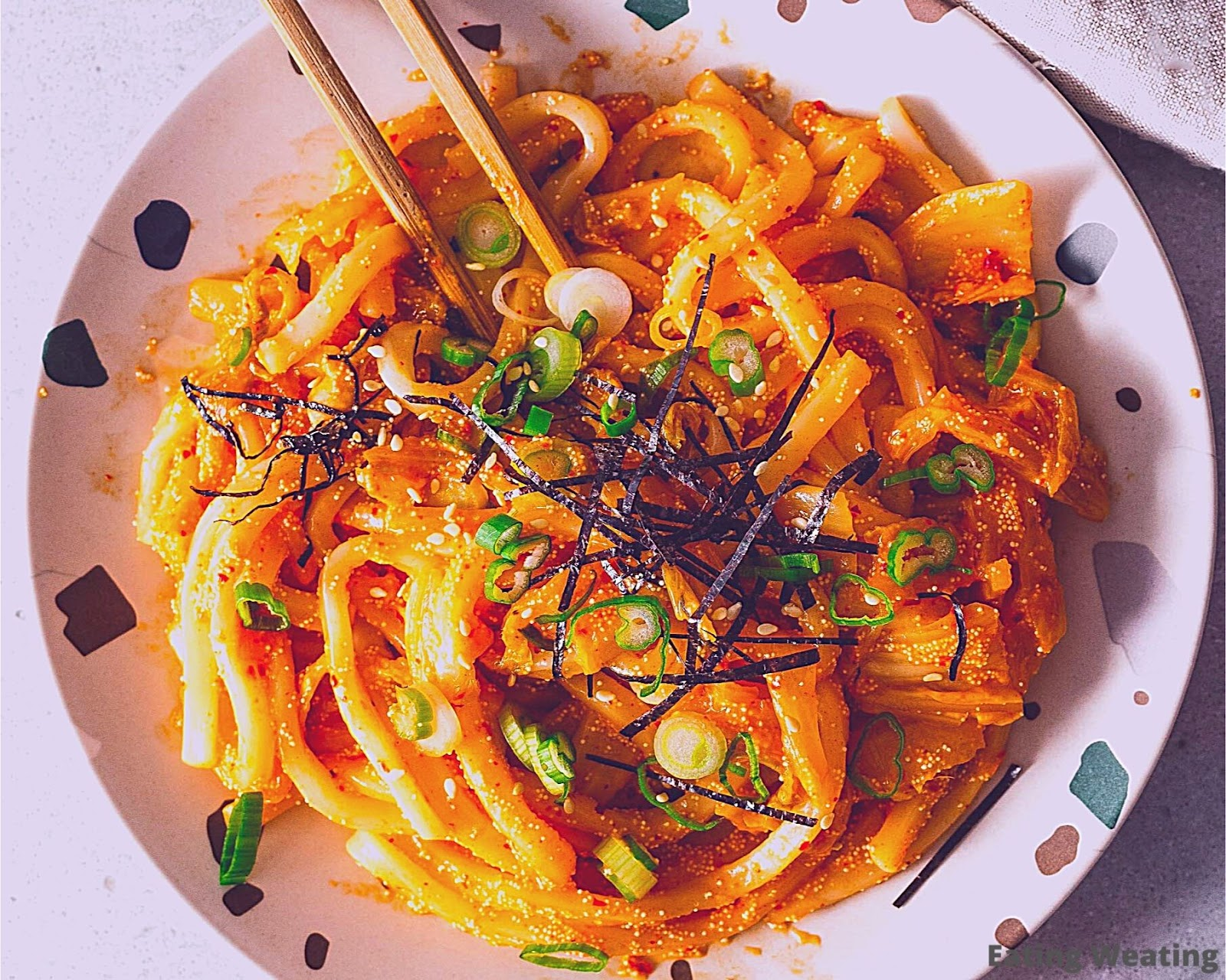 Spicy Savory Mentaiko Udon