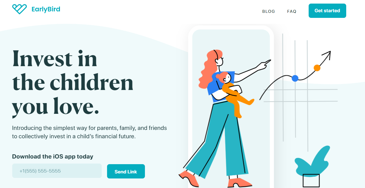 Early Bird landing page example