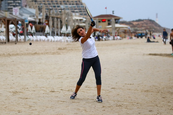 Badminton is a great beach team game.