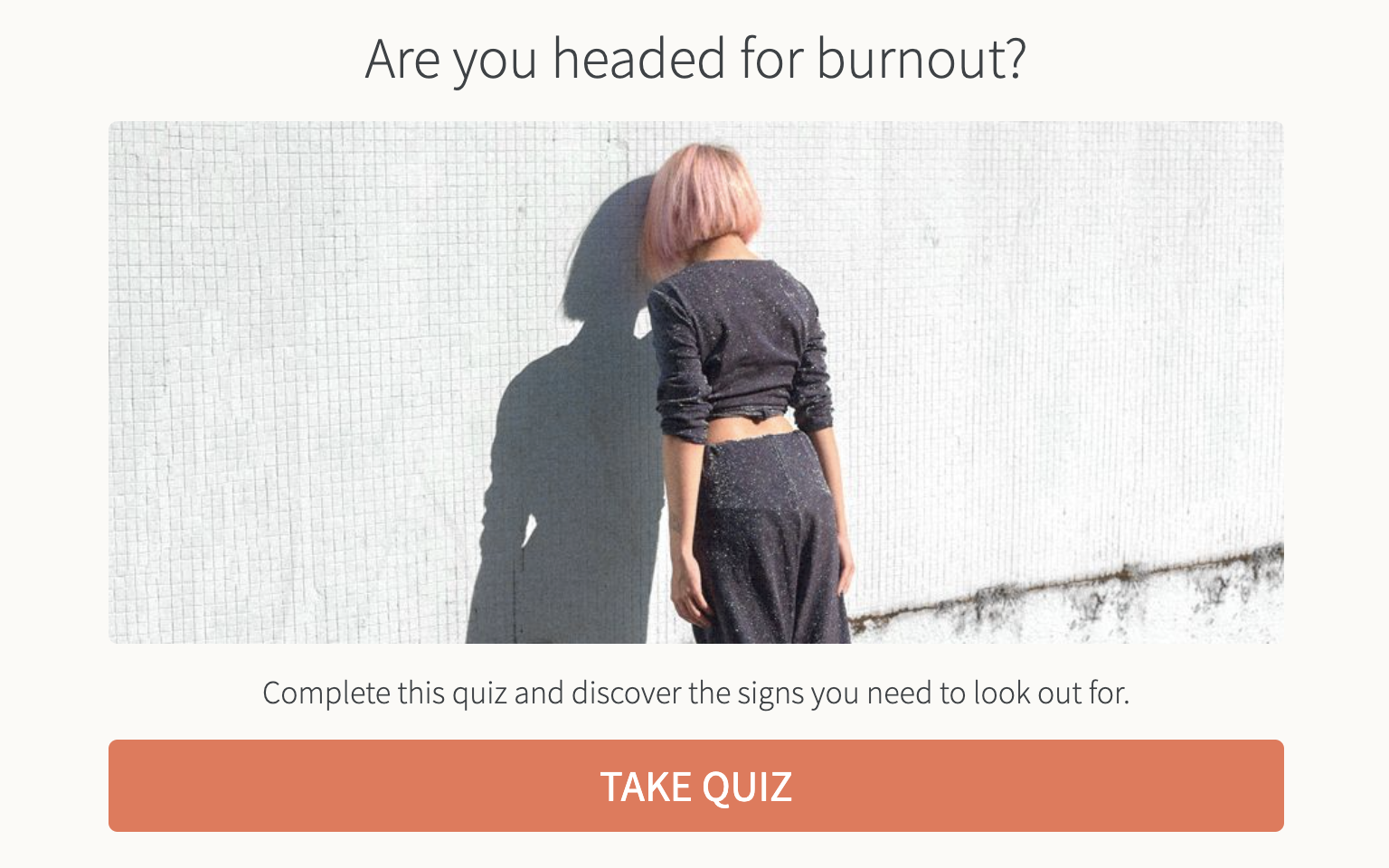 Are you headed for burnout quiz cover