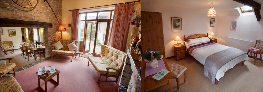 Enjoy a family holiday in The Old Granary cottage at Bampfield Farm, Devon.