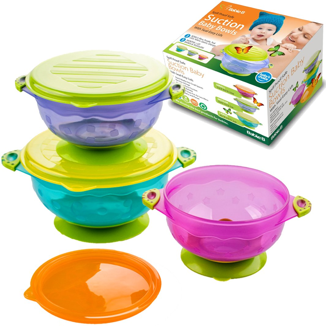 Babie B Baby Suction Bowls for Babies - Set of 3