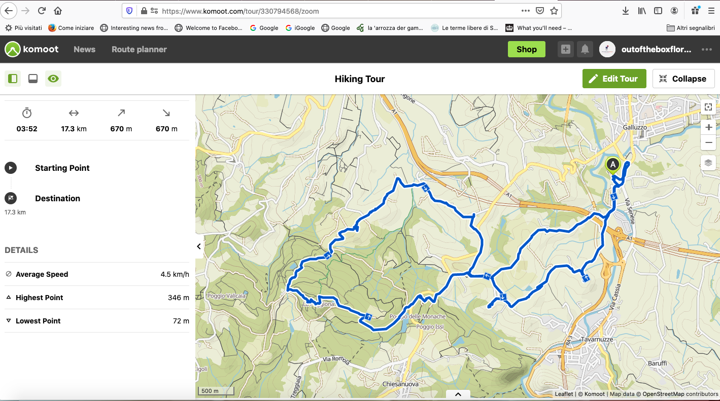 Hiking from Florence ideas