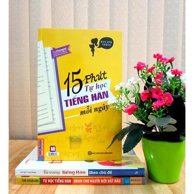 Tự học tiếng Hàn hiệu quả vớicuốn sách 15 phút tự học tiếng Hàn mỗi ngày