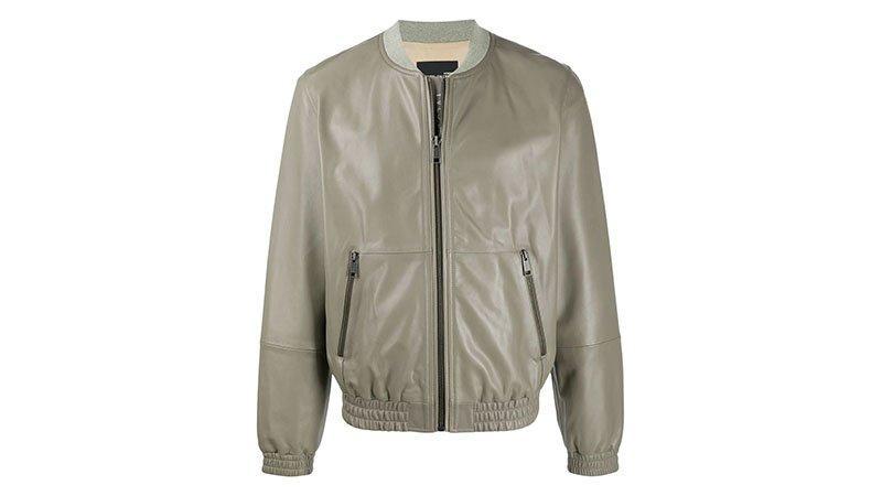 Yves Salomon Homme Leather Bomber Jacket