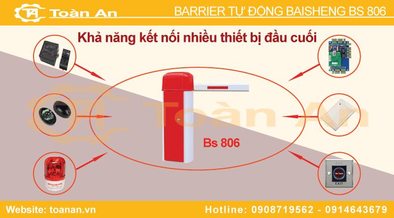 Các thiết bị đầu cuối thường sử dụng kết nối cùng barrier tự động baisheng bs 806.