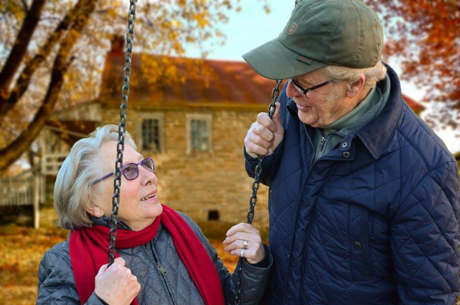 couple, elderly, man