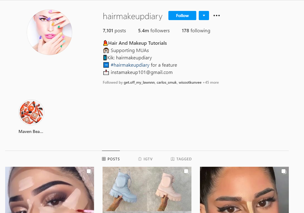 Instagram content example 2
