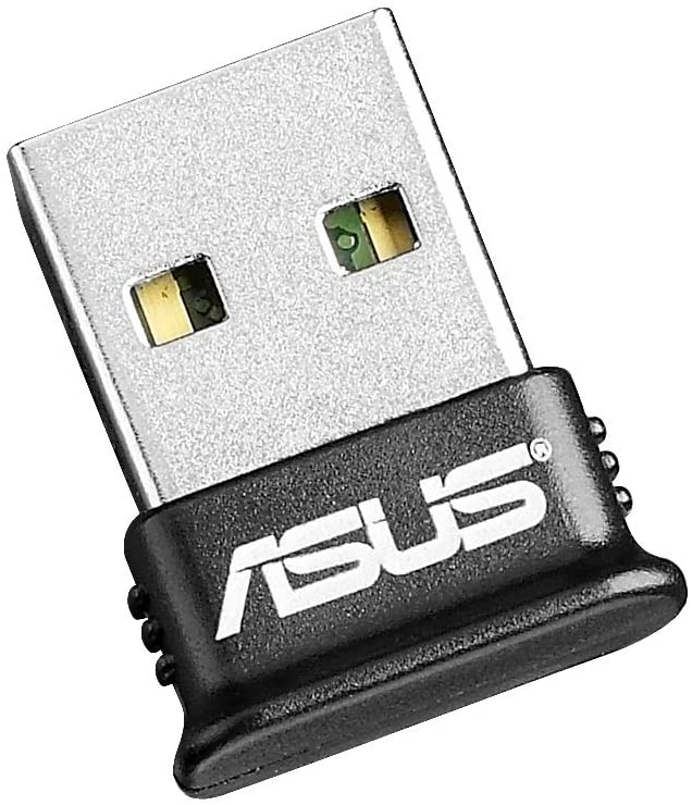 ASUS USB-BT400 USB Adapter w/ Bluetooth Dongle Receiver, Laptop & PC Support, Windows 10 Plug and Play /8/7/XP, Printers, Phones, Headsets, Speakers, Keyboards, Controllers,Black