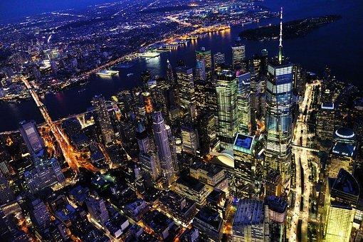 New York, Cityscape, Night, City