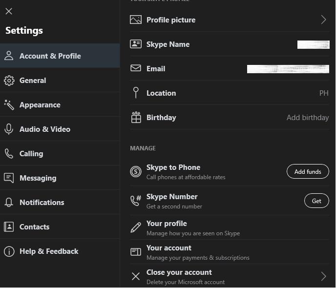 Account & Profile
