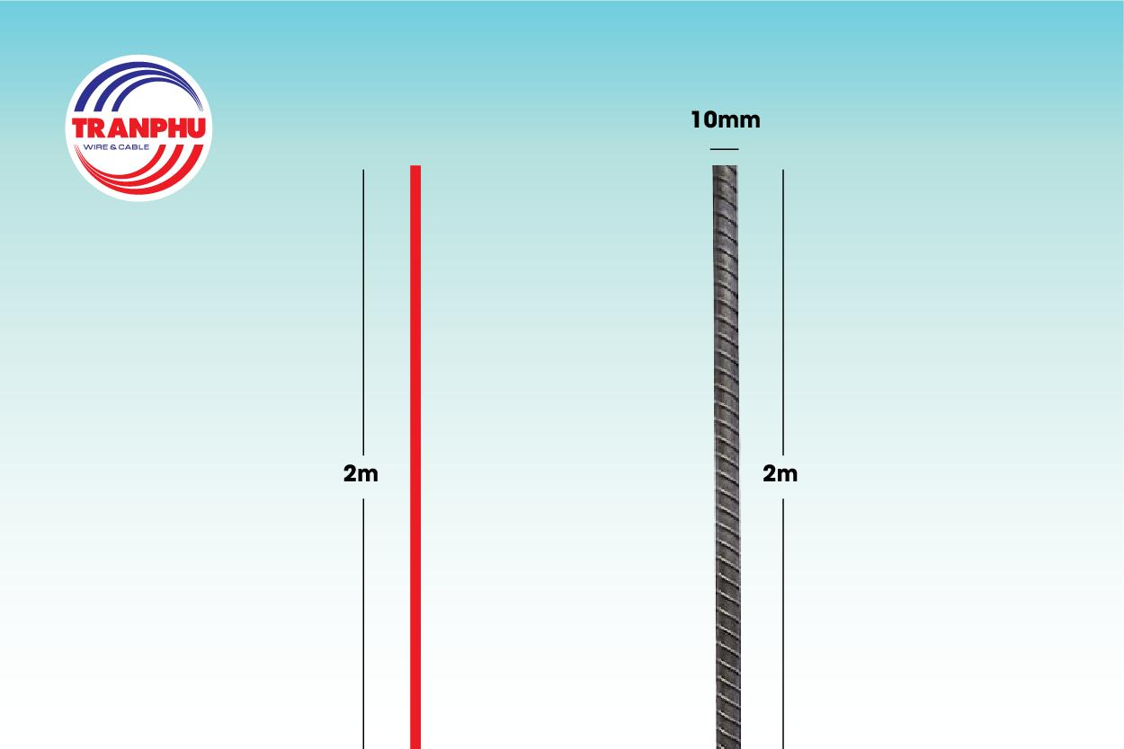 sợi dây điện có chiều dài từ 2-3m