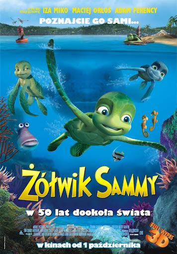 Polski plakat filmu 'Żółwik Sammy: W 50 Lat Dookoła Świata'