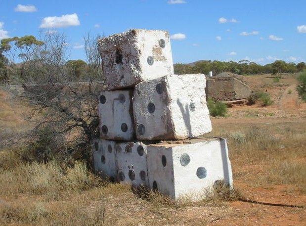 the big dice sculpture