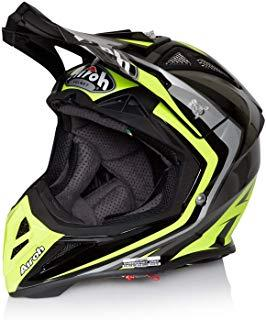 Casco Mx Airoh Aviator 2.2 Warning Amarillo (S , Gris)