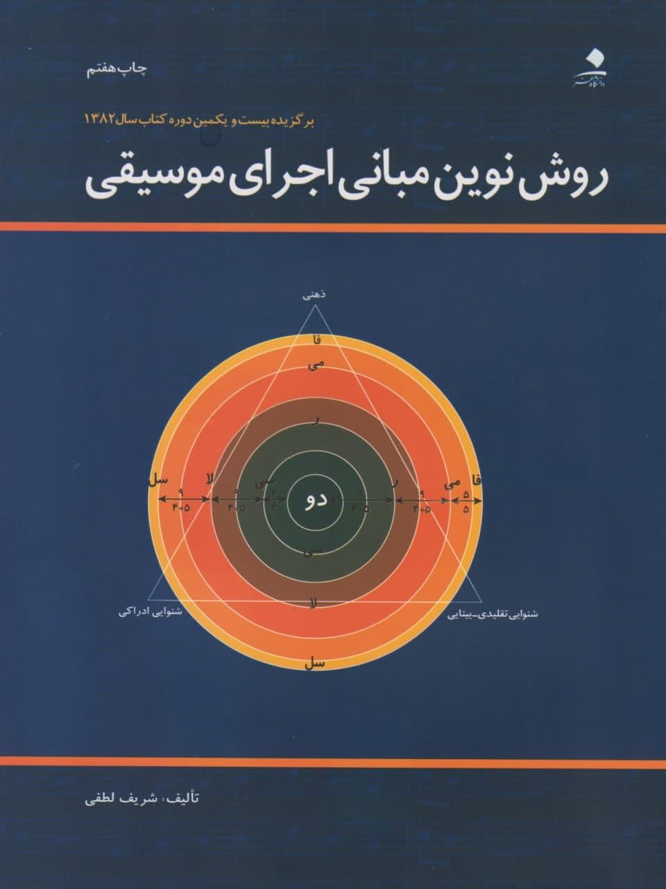 کتاب روش نوین مبانی اجرای موسیقی شریف لطفی انتشارات دانشگاه هنر