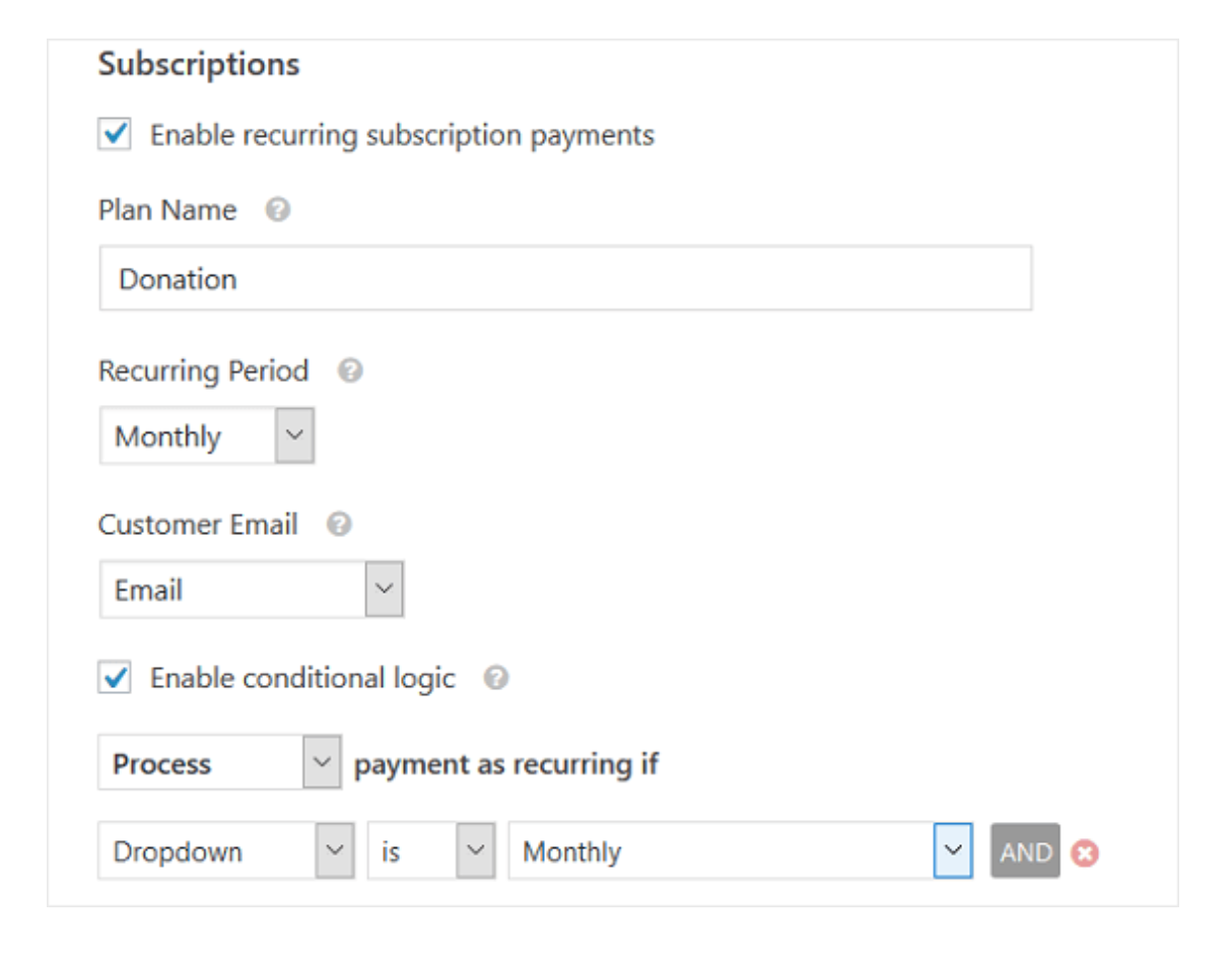 Recurring Subscriptions for WordPress
