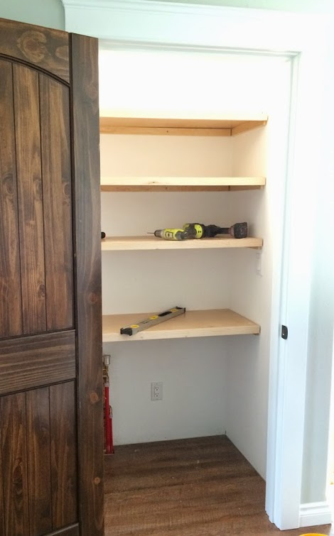 easiest pantry or closet shelving | ana white woodworking projects Attach Shelf to Wall
