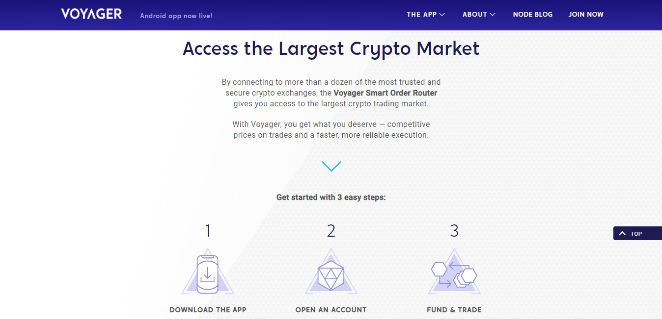 Voyager: Access the Largest Crypto Market