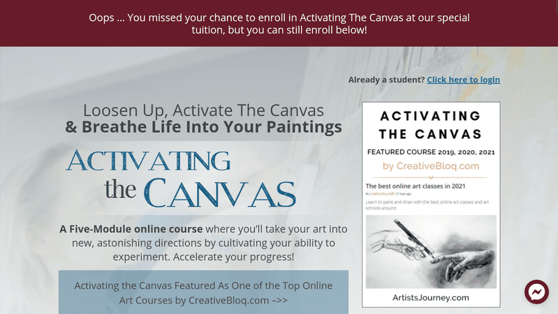 Activating the Canvas is a five-module abstract painting course taught by bestselling author and abstract artist Nancy Hillis.