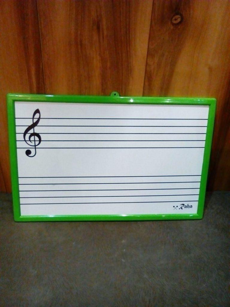 تخته وایتبرد (میوزیک برد) موسیقی رها (تابلو آموزش موسیقی کوچک)