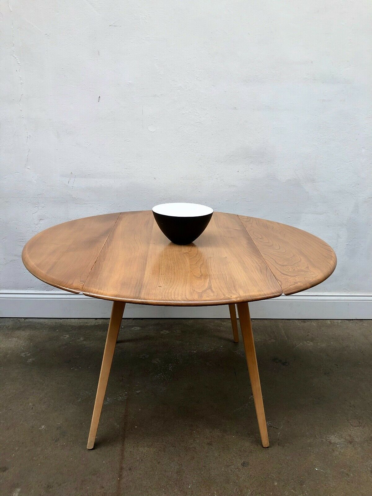 drop leaf ercol vintage dining table