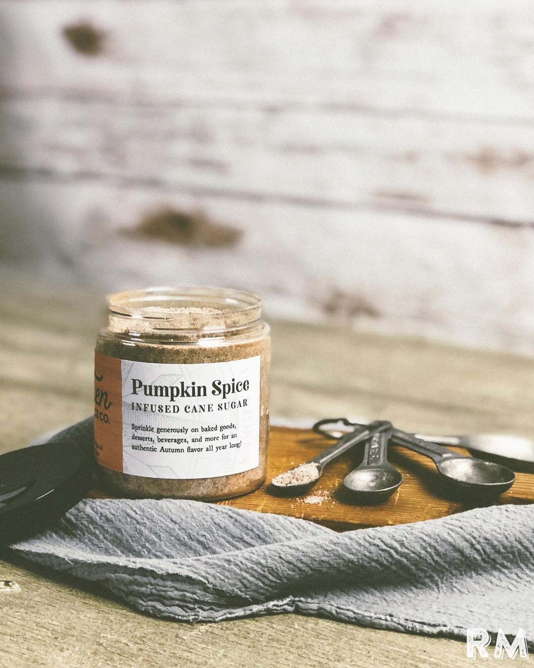 pumpkin spice infused cane sugar