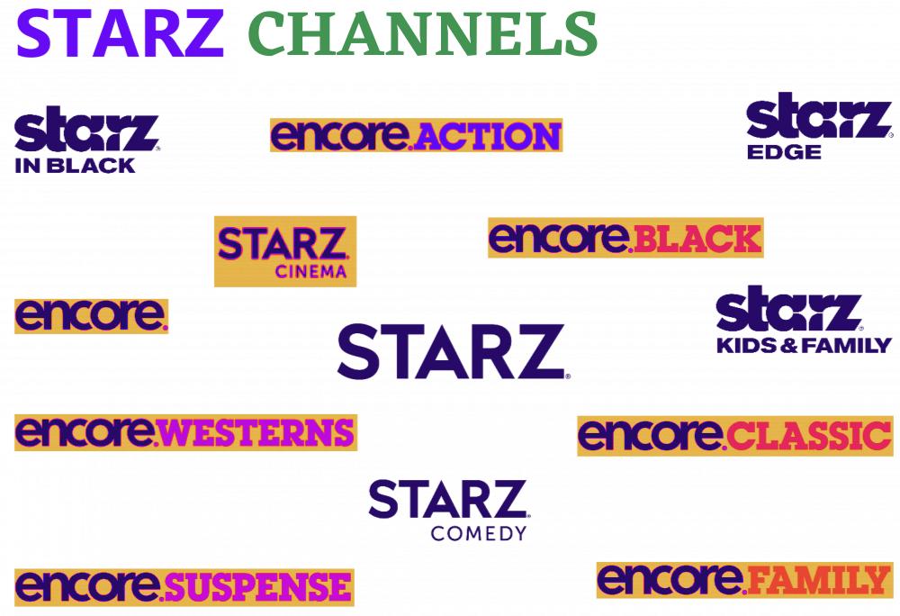 STARZ Channel lineup
