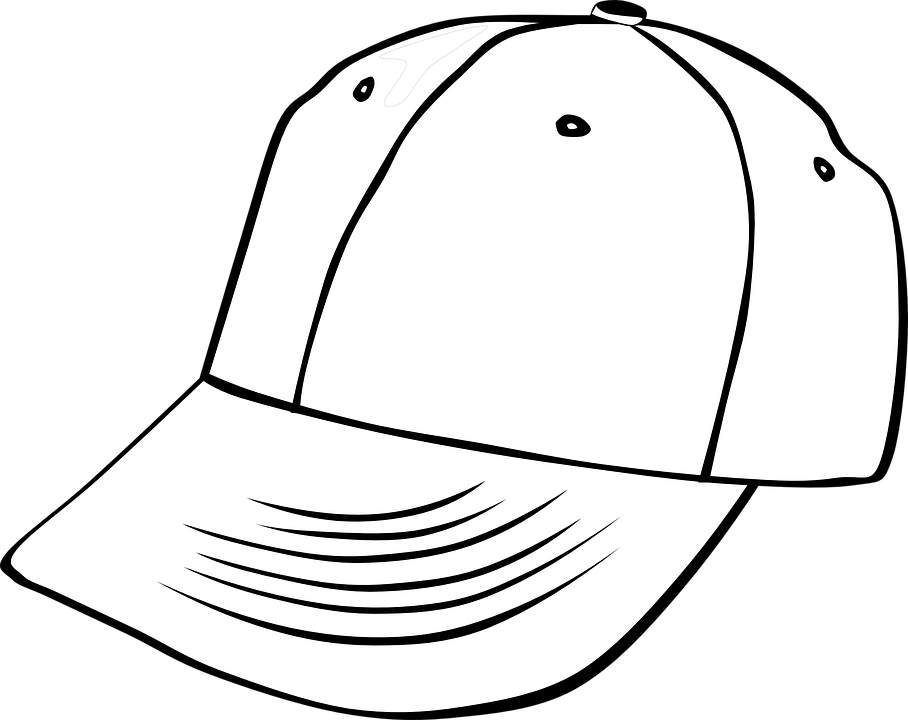 Free vector graphic: Hat, Baseball, Cap, Outlines, White - Free ...