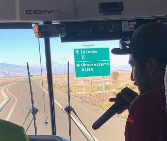 We saw the road sign for the ALMA Observatory, but didn't have time to visit (Source: Palmia Observatory)Astronomical observatories are very present in the Atacama