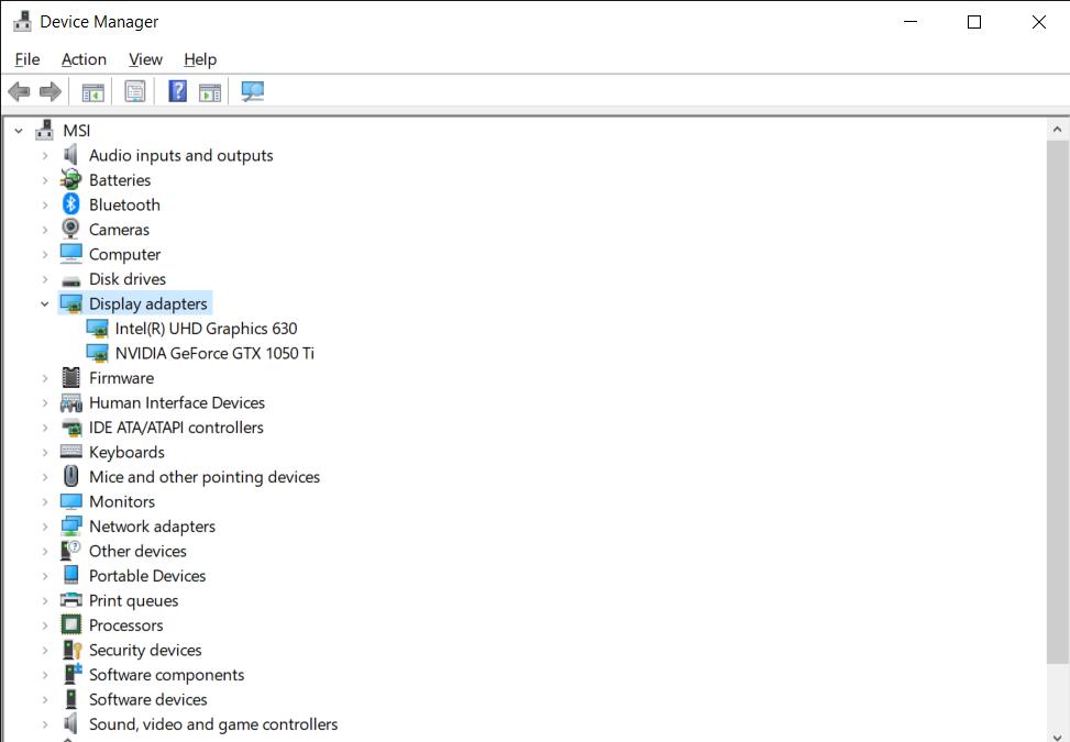 Windows Device Manager window