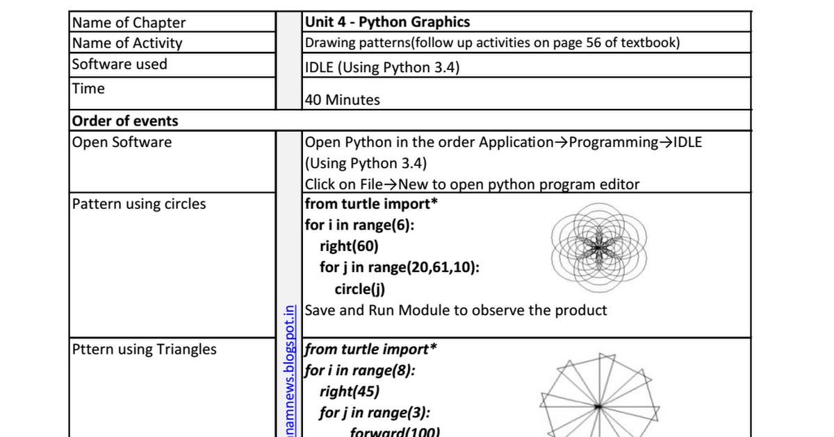 Python Turtle Patterns