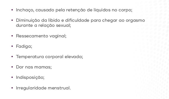 sintomas de progesterona mais elevada que o normal