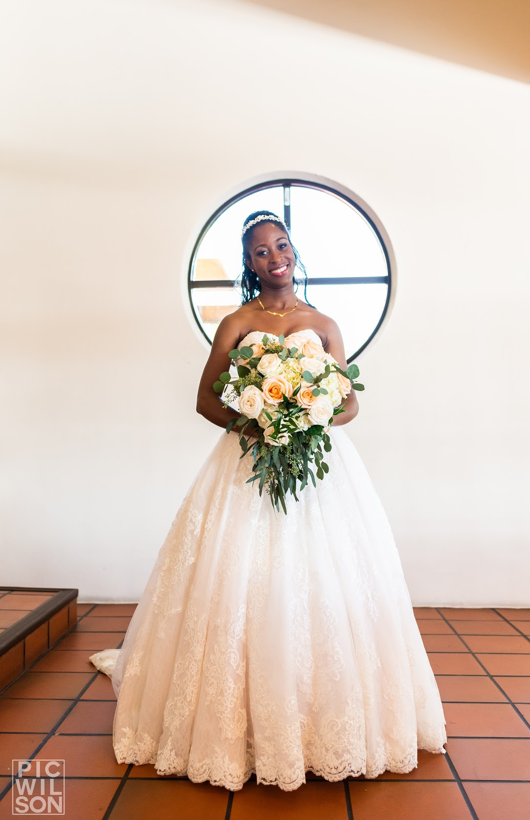 Wedding Day Picture Photo Credit: Gary Wilson at PicWilson Photography Dress: David's Bridal Patience & Pearls