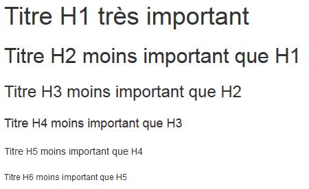 c'est quoi les balises H1