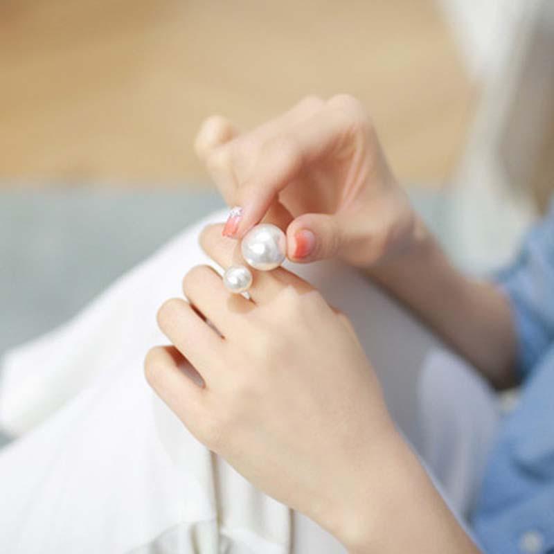 Оригінальна кільце з перлами