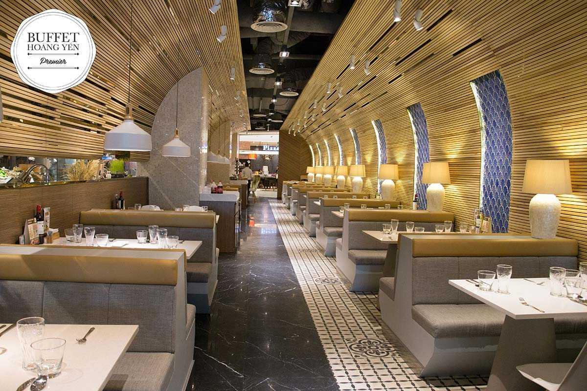 Khoảng không gian hoàn hảo rất thích hợp cho những bữa tiệc đẳng cấp với buffet hải sản cao cấp