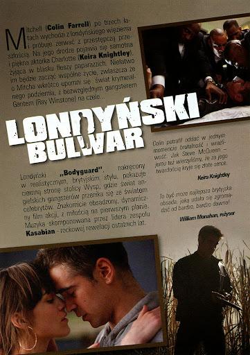 Tył ulotki filmu 'Londyński Bulwar'