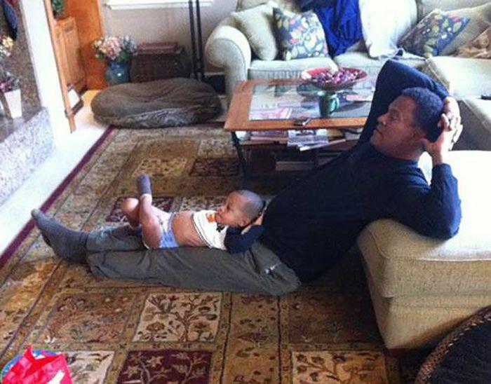 Padres e hijos que son como dos gotas de agua