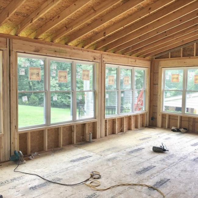 sunroom mt juliet lebanon tennessee superior construction and design in progress renovation